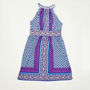 Maggy London Halter Top Tribal Dress